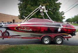 Cardinals Boat Wrap - Boat Vinyl
