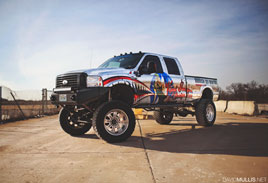 Mirror Ford Truck - Printed Chrome Wrap